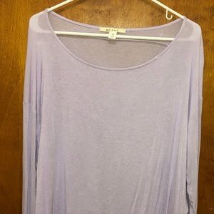 Miami Long Sleeve Top Woman Purple Sheer M